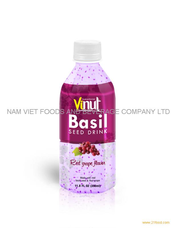 350ml basil seed with Red grape flavour