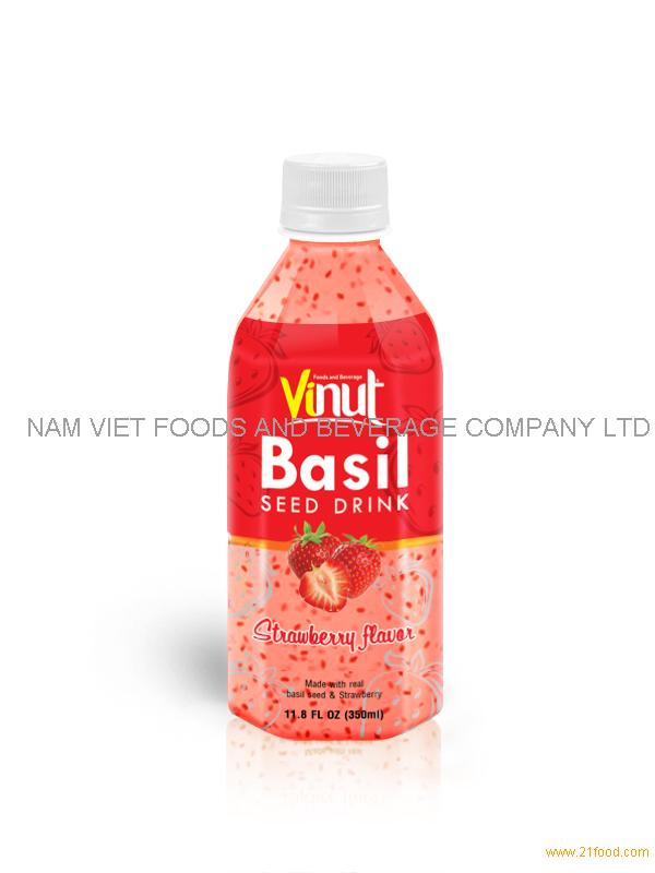 350ml basil seed with Strawberry flavour
