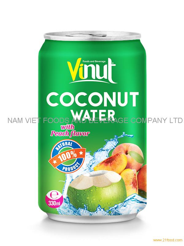 330ml Coconut water with Peach