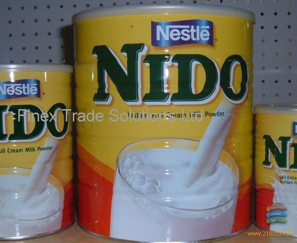 NIDO MILK POWDER A)Brand : Nestle Product : Milk Powder Packing : Can (Tinned) B)Specifications Fat