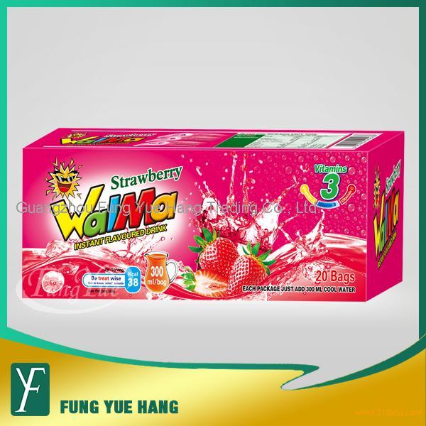 200g strawberry flavor instant juice powder drink