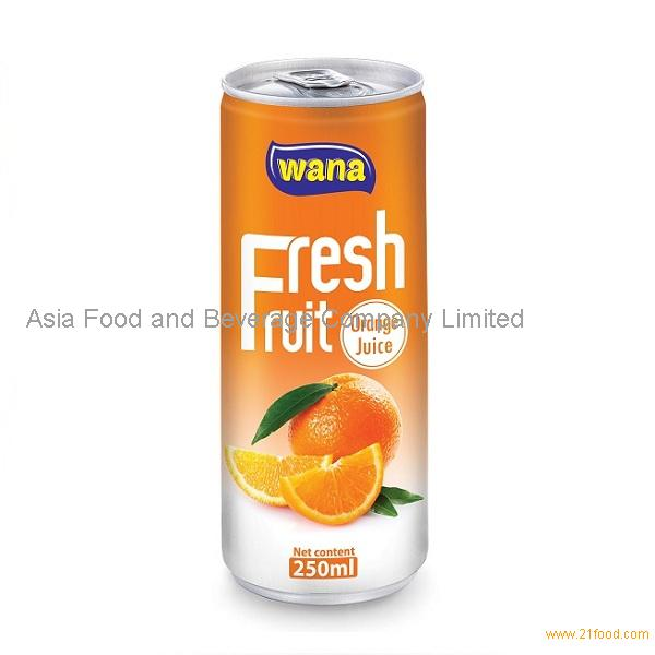 Pure Orange Juice in 250ml can Best Brand