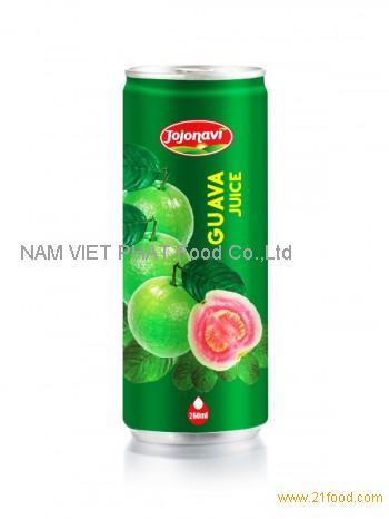 Fruit Juice Export- Guava Juice - Natural Fruit Juice in Aluminium can 250ml