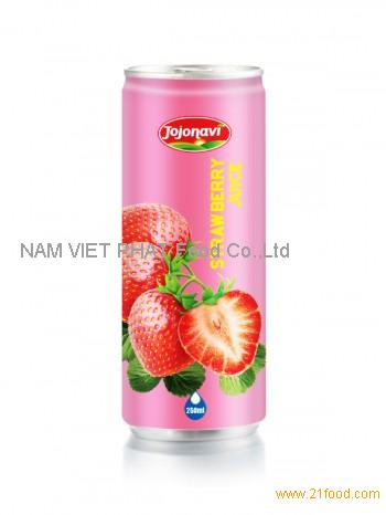 Fruit Juice Export - Strawberry Juice - Natural Fruit Juice in Aluminium can 250ml