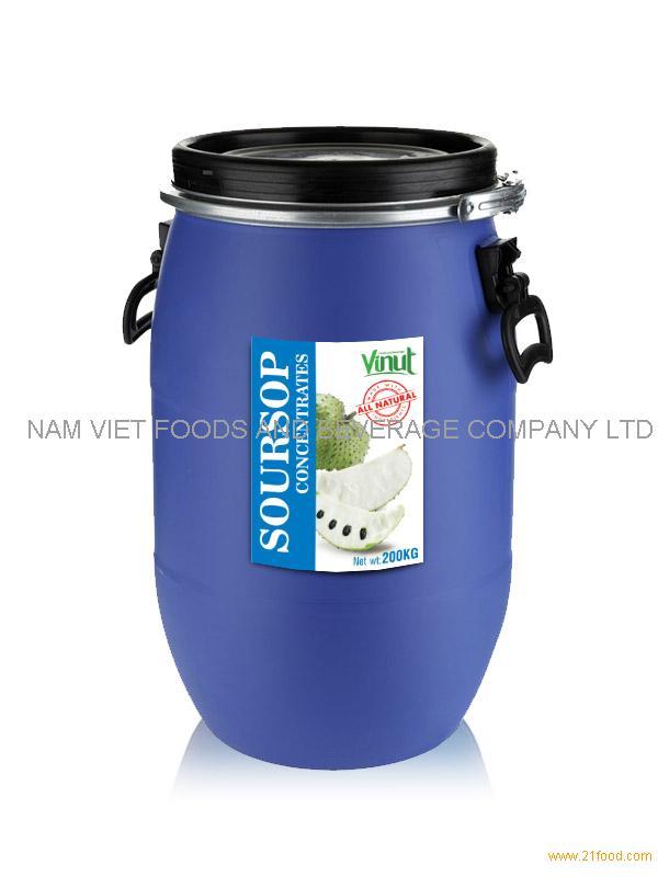 Soursop juice Concentrates 200kg