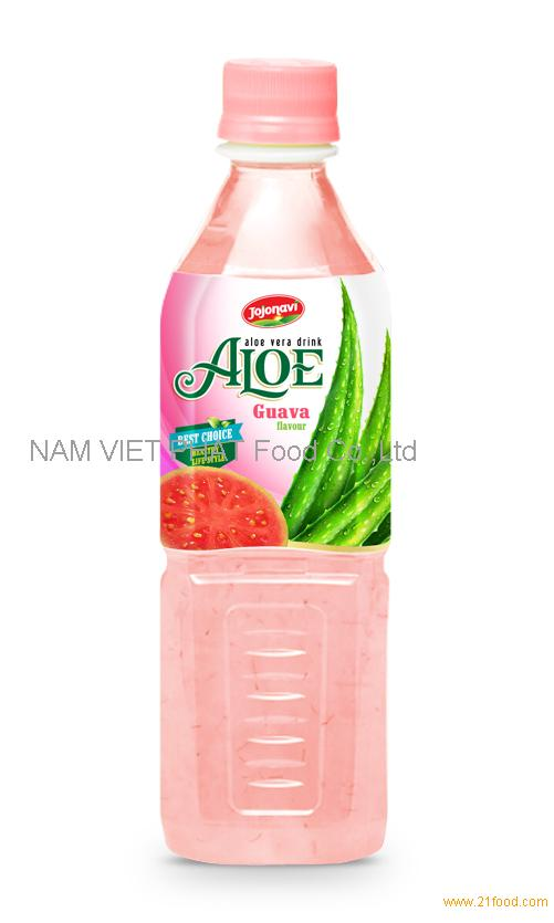 Fruit juices Aloe vera products export Aloe vera drink with guava flavour in PET Bottle 500ml