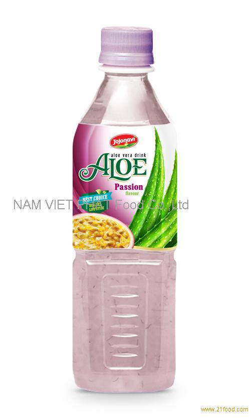 Vietnam aloe vera products export Aloe vera drink with passion flavour in PET Bottle 500ml