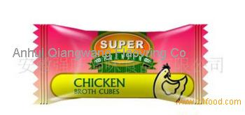 Candy wrapping chicken bouillon cube