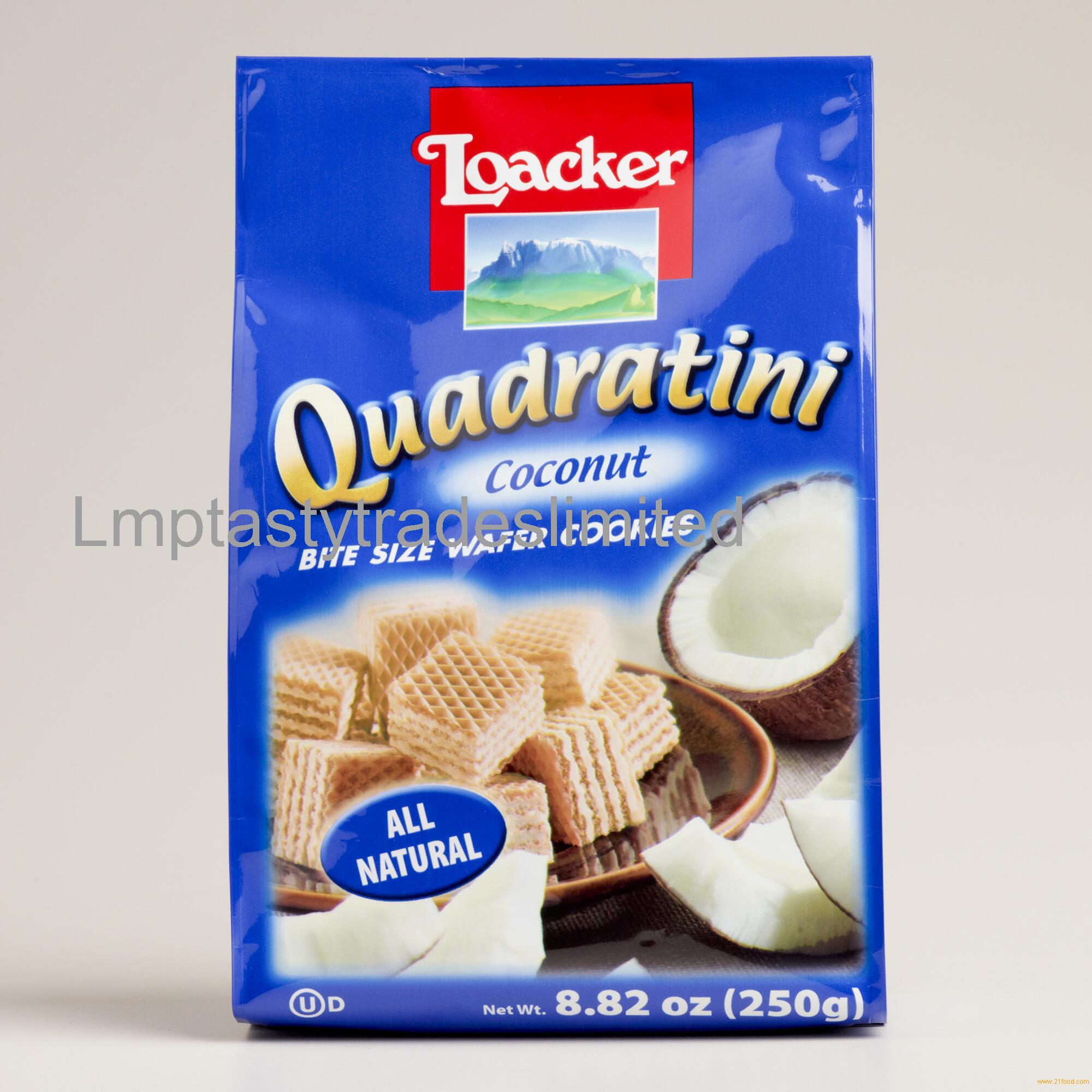 Loacker Quadratini Wafers 125gr Bags
