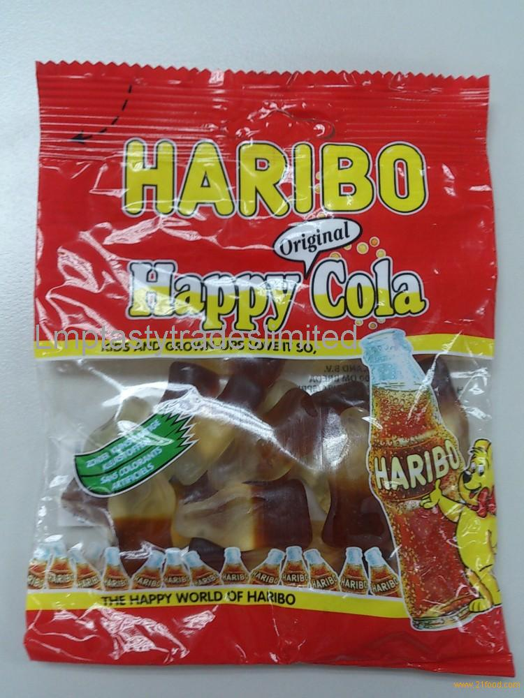 HARIBO Bags:Happy Cherries, Winegums,Happy Cola,Sour Apples,Peaches, Fantasia,, Color-Rado