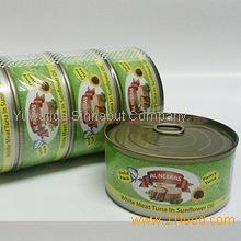 Canned white meat tuna in sunflower oil