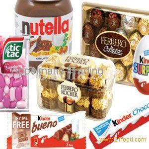 Snickers, Kitkat, Bounty, Twix, Mars, Kinder Joy, Milka, Toblerone