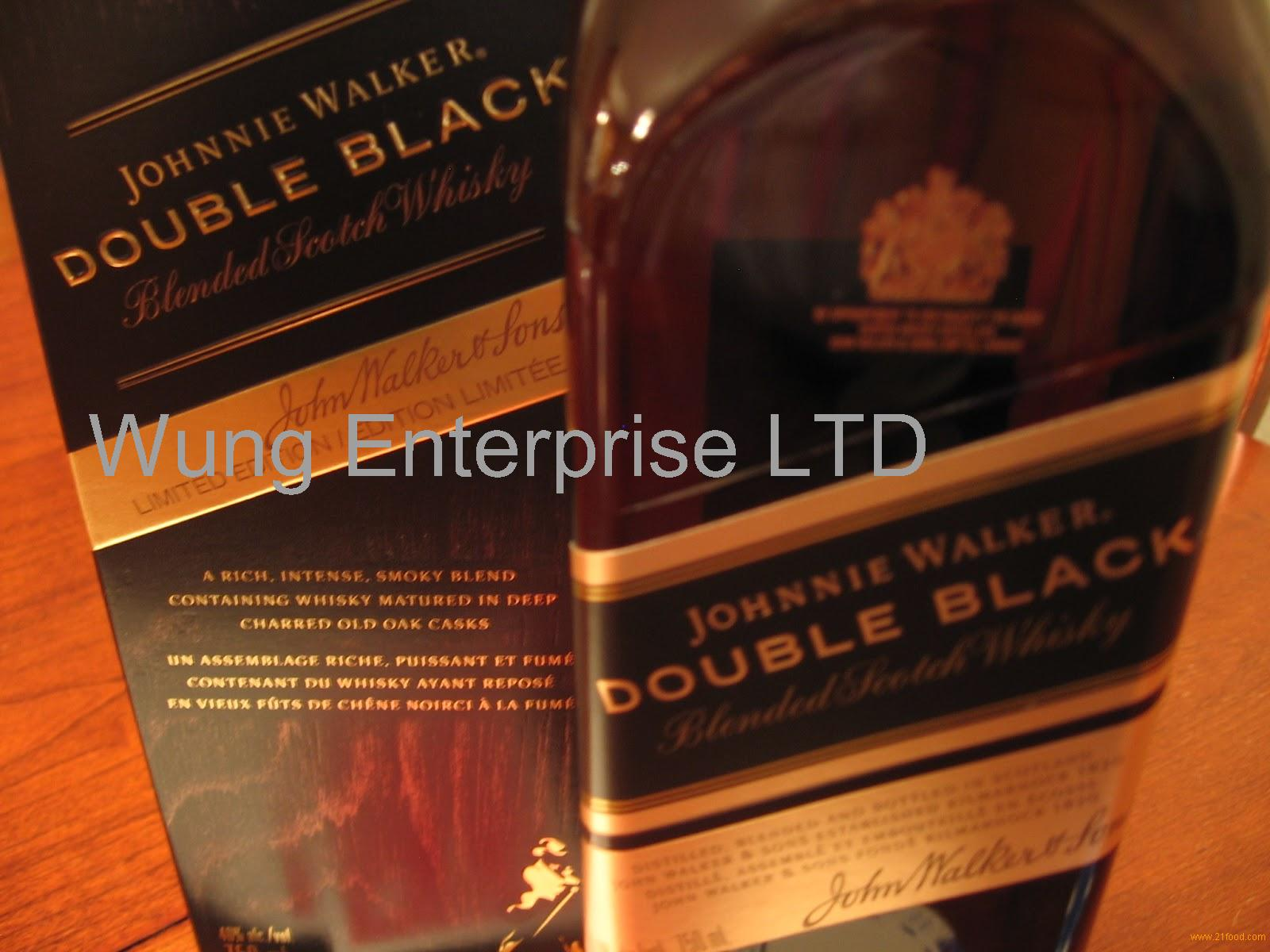 Johnny Walker Black Label, Blue Label Red Label, Double