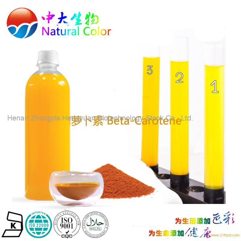 natural beta-carotene colour/color manufacturer