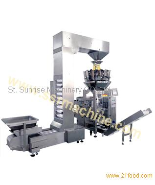 Pet food, rice, grains, beans Multi-head Combined Weighing Vertical Packing Machine