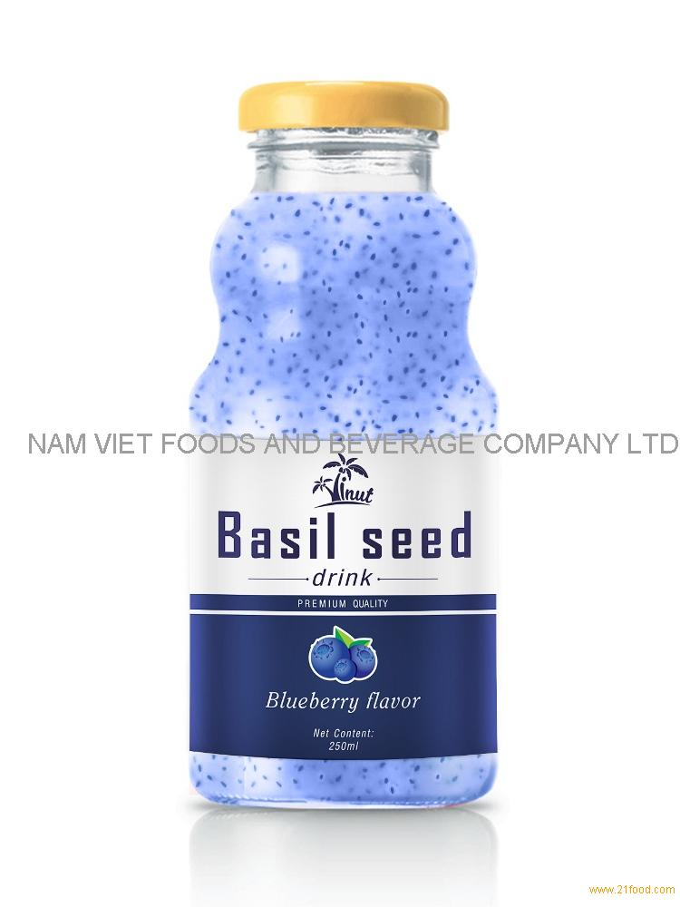 250ml Blueberry Flavour Basil Seed Drink