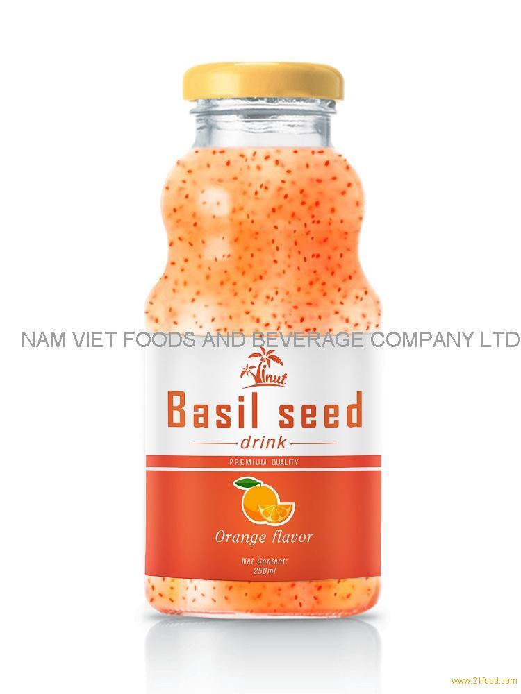 250ml Orange Flavour Basil Seed Drink