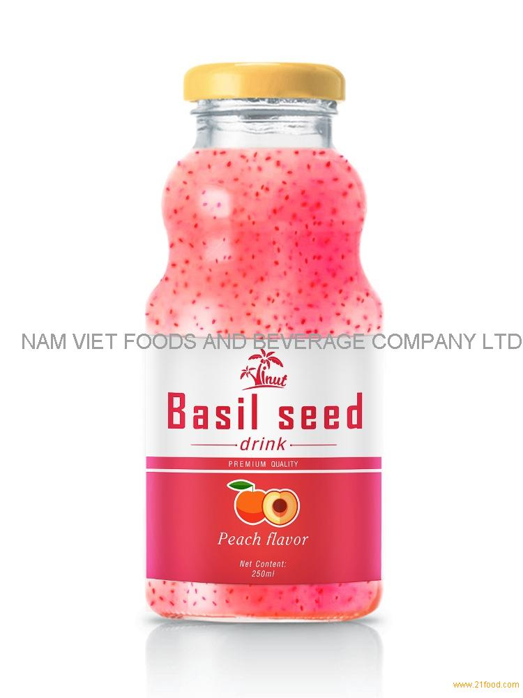 250ml Peach Flavour Basil Seed Drink