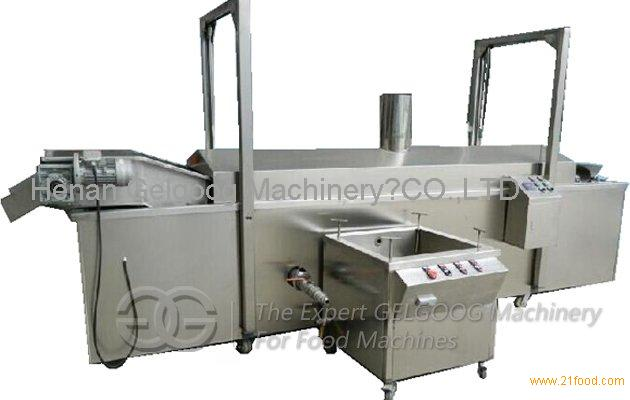 Gas Heating Continuous Nuts Frying Machine with Oil Filtering Function