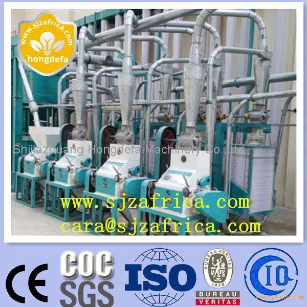 Corn maize flour milling machine with big or small scale
