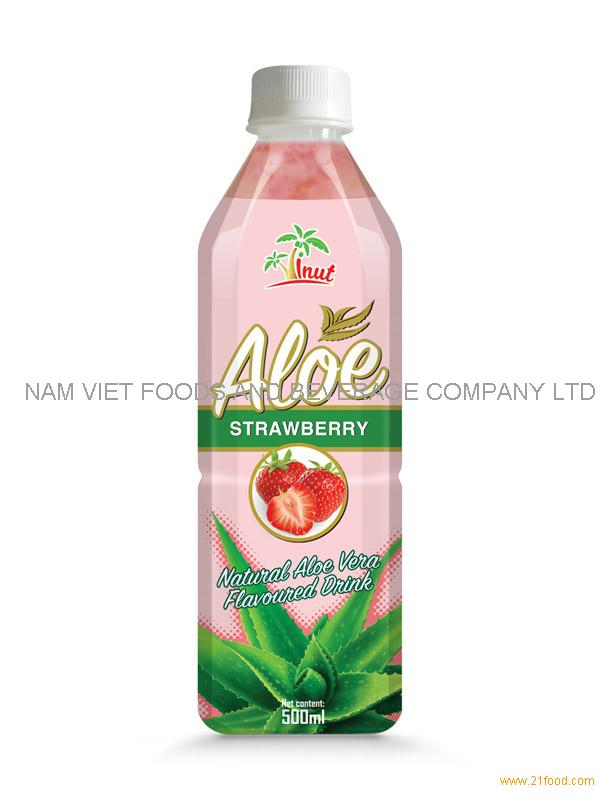 500ml Strawberry Aloe Drink