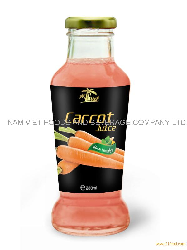 280ml Glass bottle Carrot Juice
