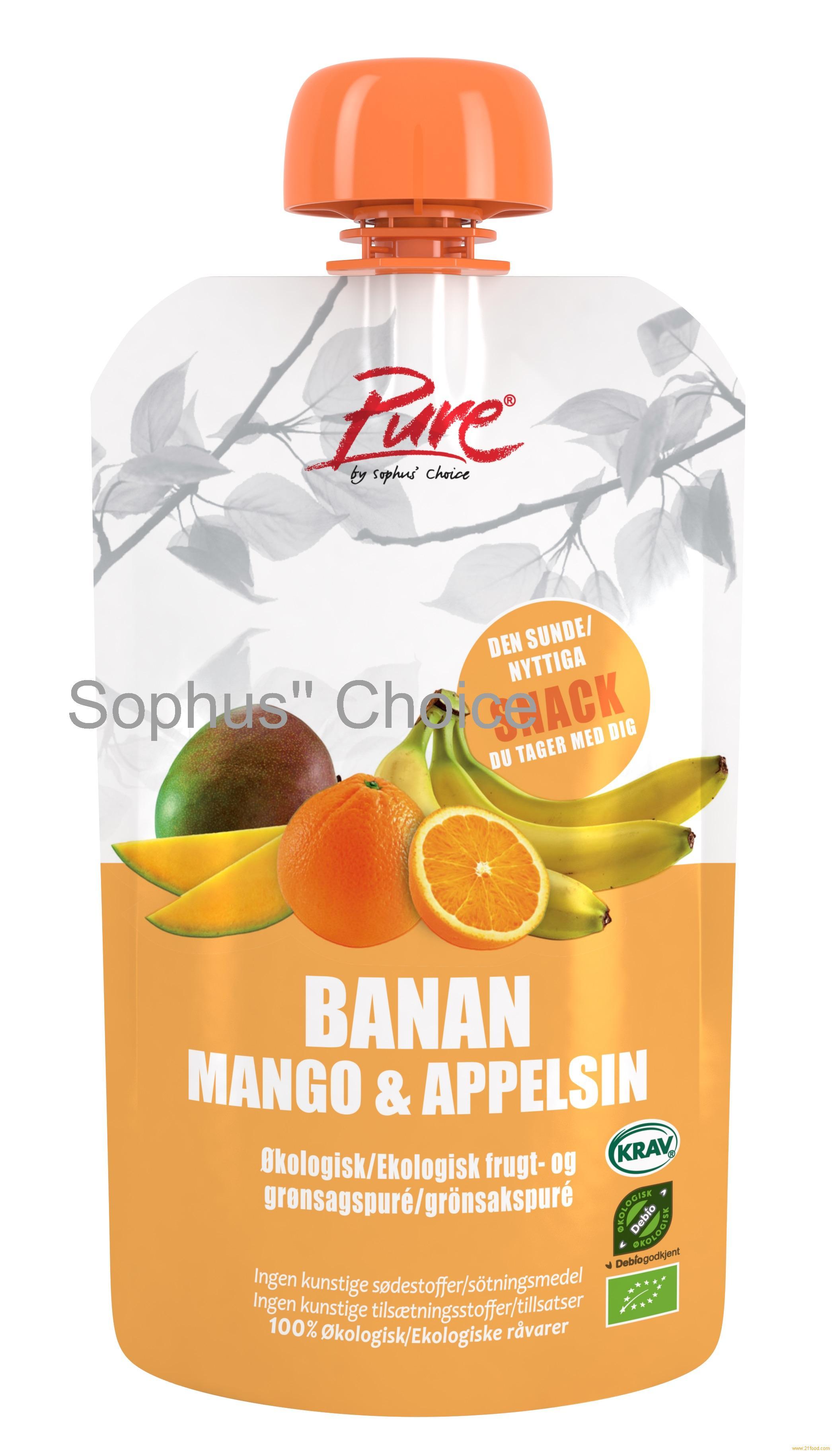 Pure Banana, Mango & Orange