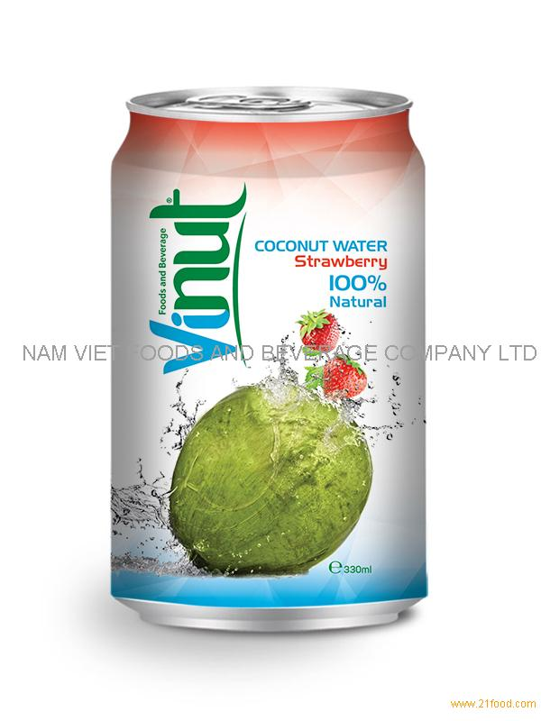 330ml Strawberry Coconut Water
