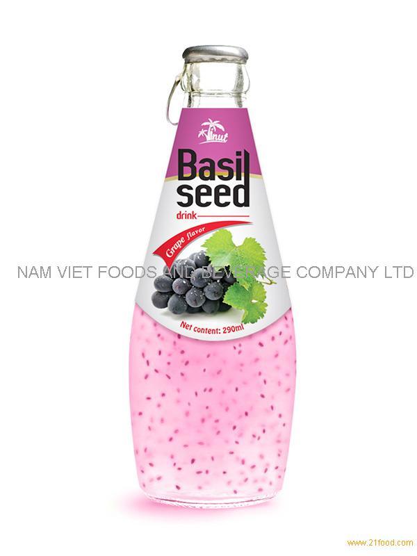 290ml Grape Basil Seed Drink