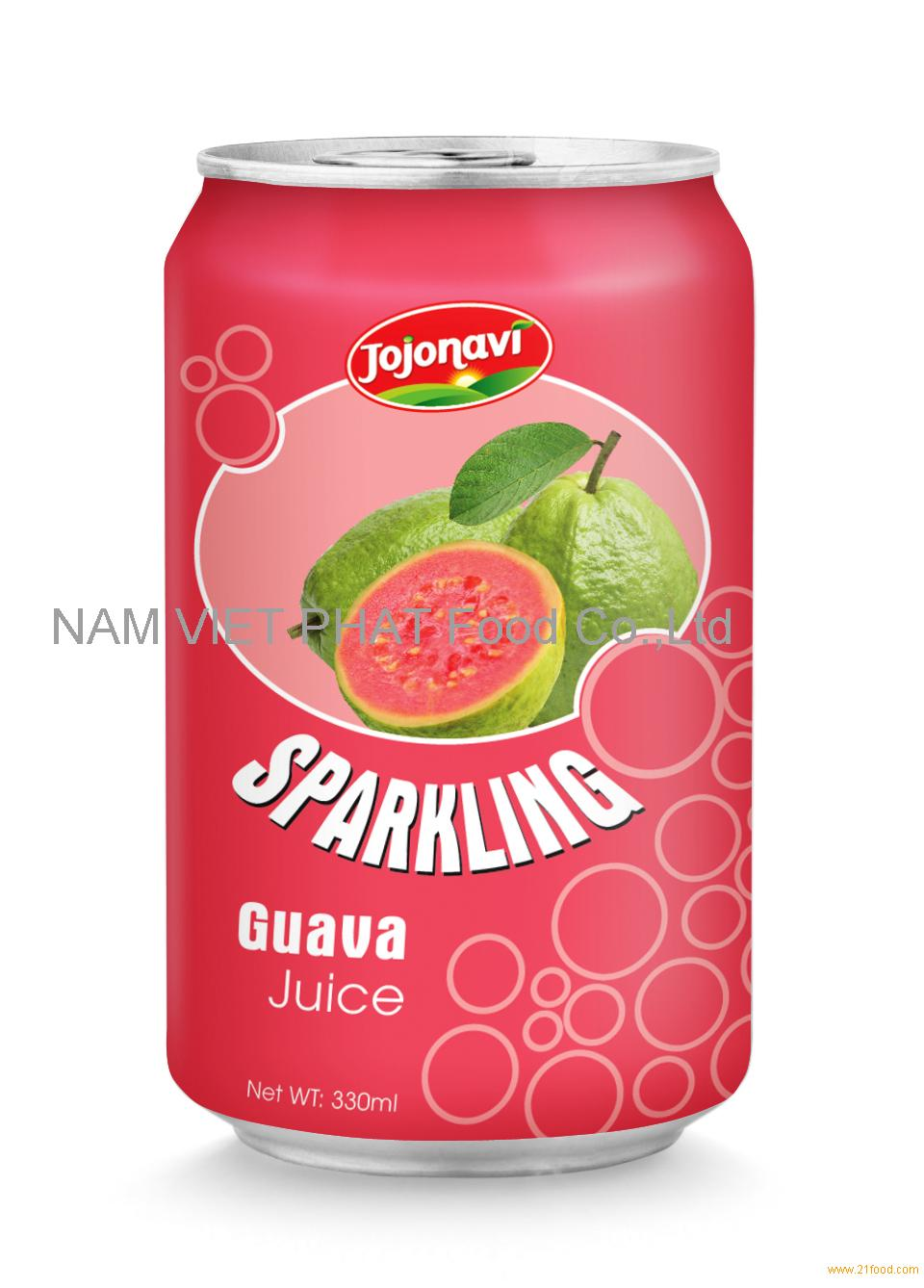 Sparkling guava juice in Aluminium can 330ml products,vietnam Sparkling guava juice in Aluminium ...
