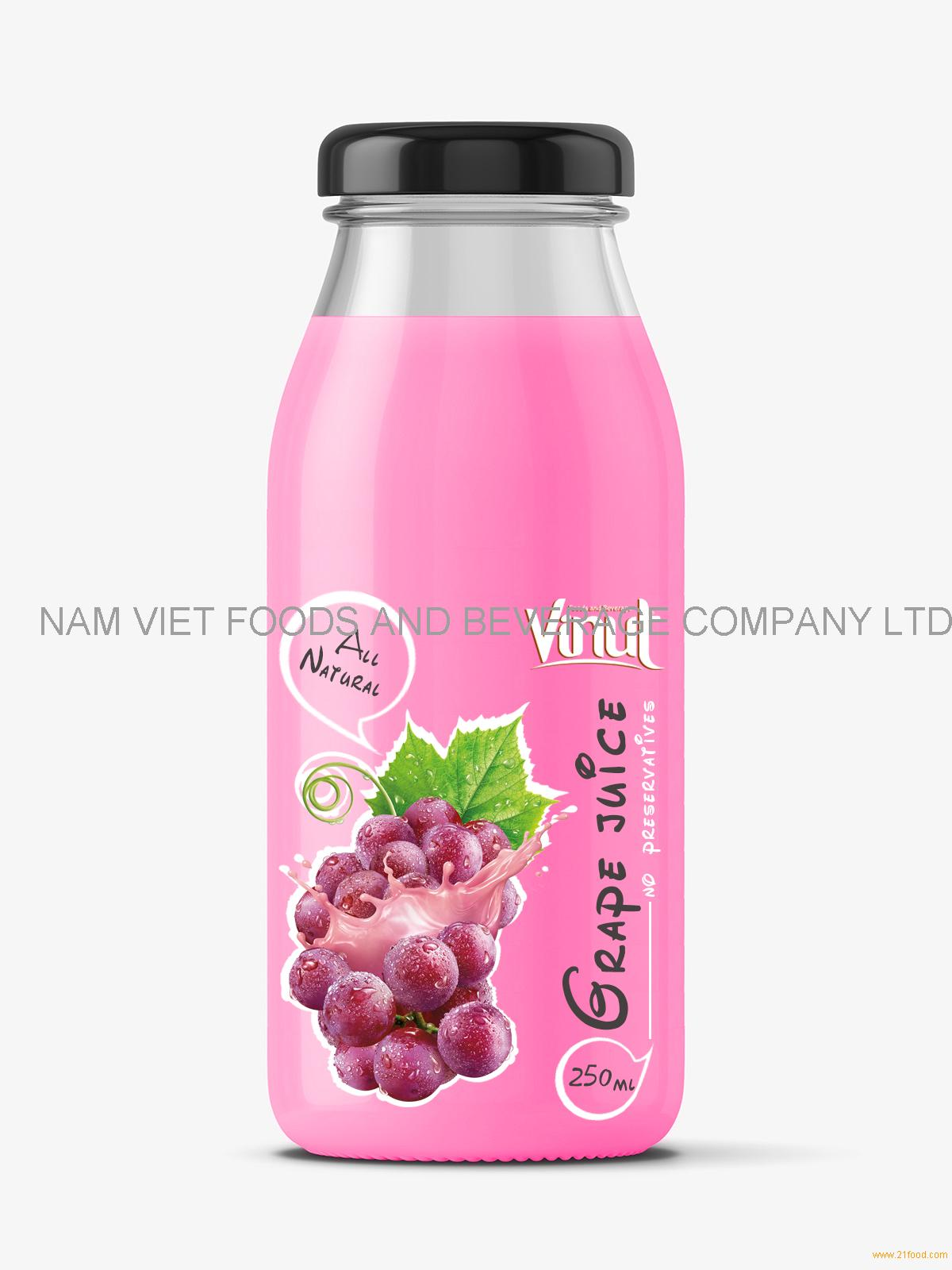 Fruit Juice drink with Grape juice 250ml Glass botle