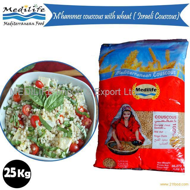 Wholesale Israeli Couscous. FDA Certification. Premium M''hammes.Thin Grain Bag 25 Kg
