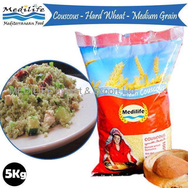 "Israeli Couscous ""M''hammes"" Medium Grain.100% Durum Wheat. Retail Bag 0.5 Kg"