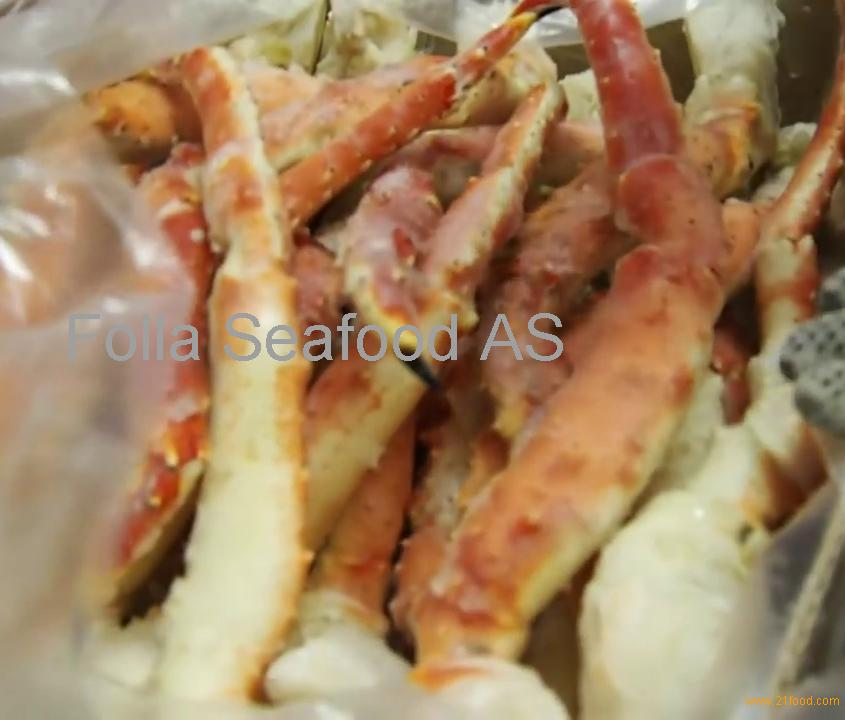 Cooked king crab legs/clusters