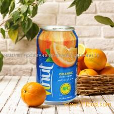 330ml Canned Real Orange Juice Drink