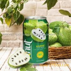 330ml Canned Real Soursop Juice Drink