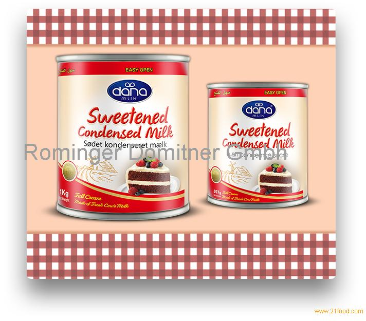 MADE FROM FRESH COW MILK BY DAN FULL CREAM SWEETENED CONDENSED MILK