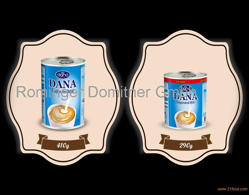UNSWEETENED CONDENSED MILK IN TIN CANS WITH LONG SHELF LIFE DANA Evaporated Milk