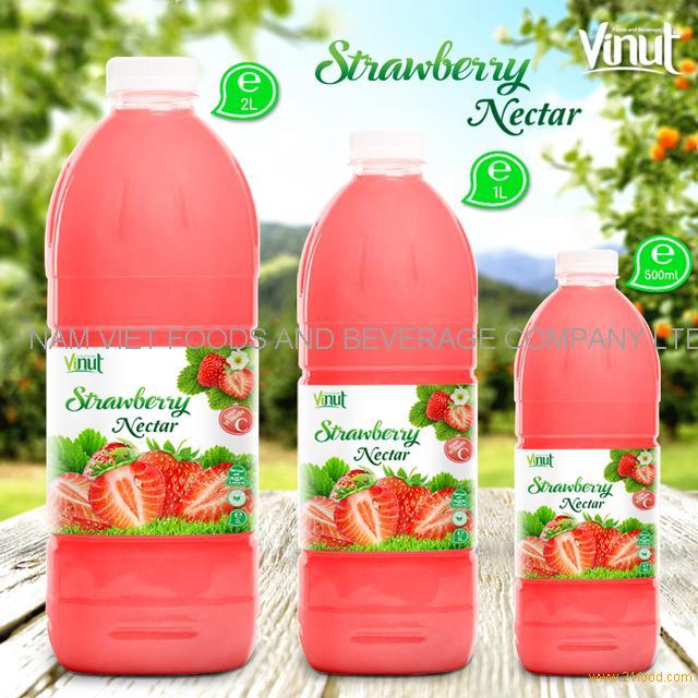 Bottle Strawberry Juice Drink Nectar
