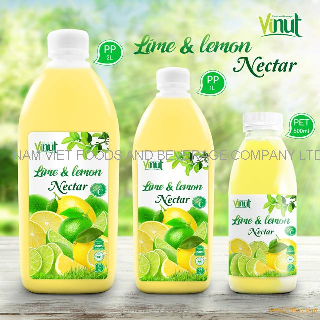 Bottle Lime and Lemon Juice Drink Nectar