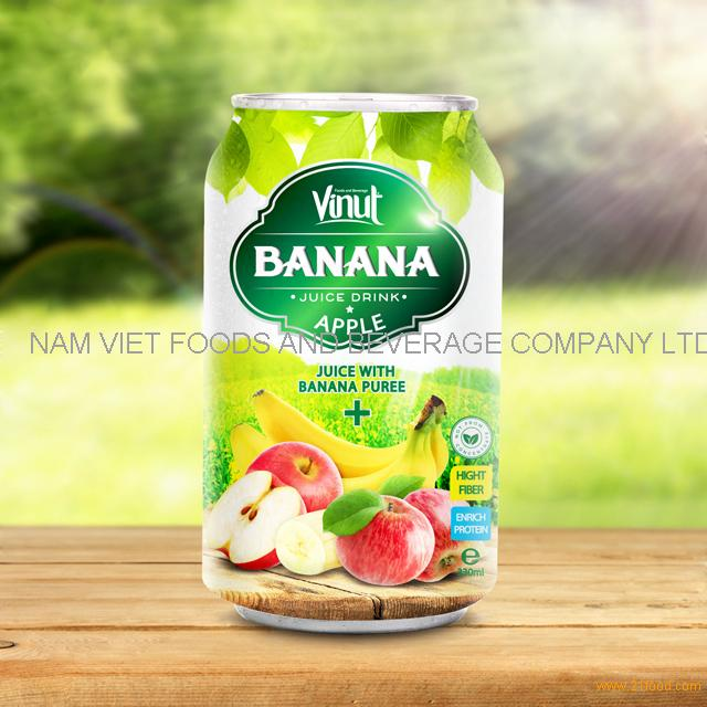 330ml Canned Banana Juice Puree with Apple