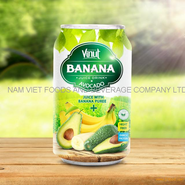 330ml Canned Banana Juice Puree with Avocado