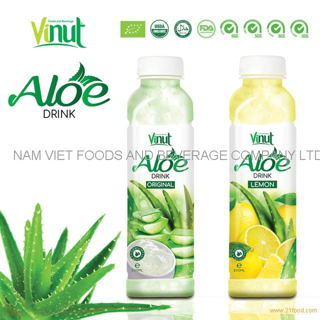 Famous brand VINUT original flavor aloe vera drink with fresh pulp