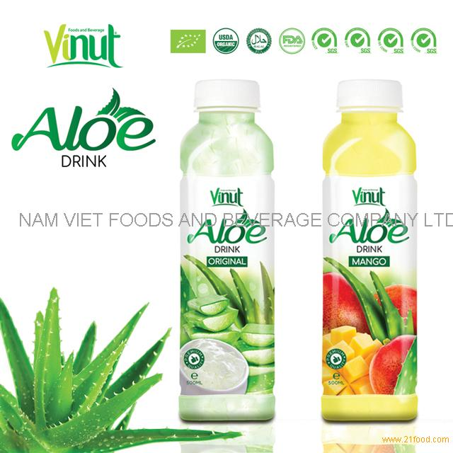 Mango Flavored VINUT 350ml Aloe Vera Drink With Pulp