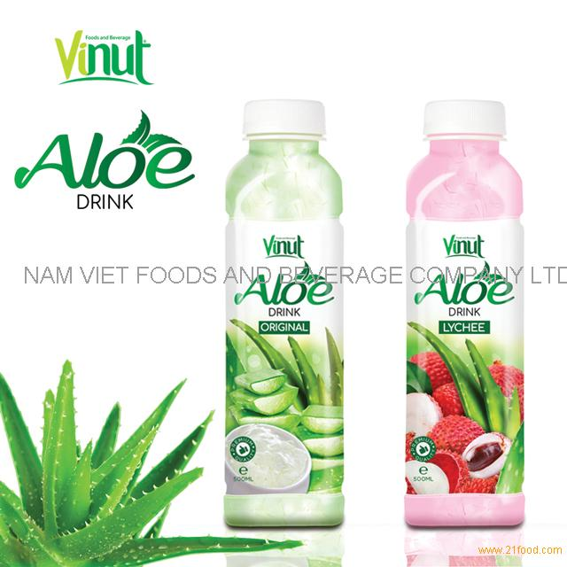 VINUT Plastic Bottle With HACCP Strawberry Flavored aloe vera drink