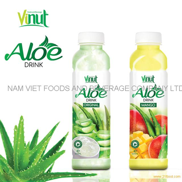 VINUT Plastic Bottle With Sacs Mango aloe vera drink distributor
