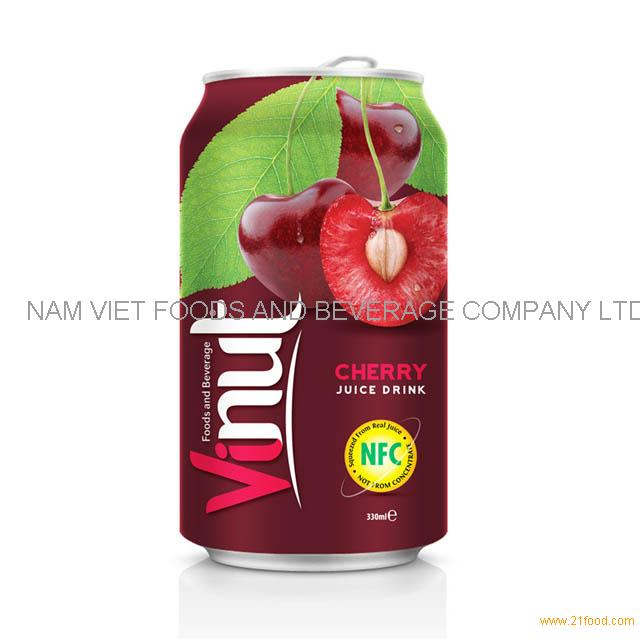 330ml Canned Fruit Juice Cherry Juice Drink Supplier