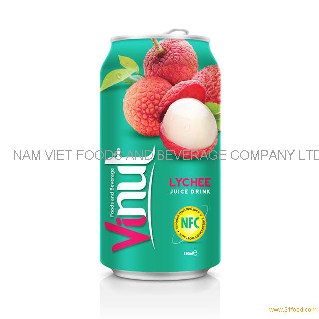 330ml Canned Fruit Juice Lychee Juice Drink Supplier
