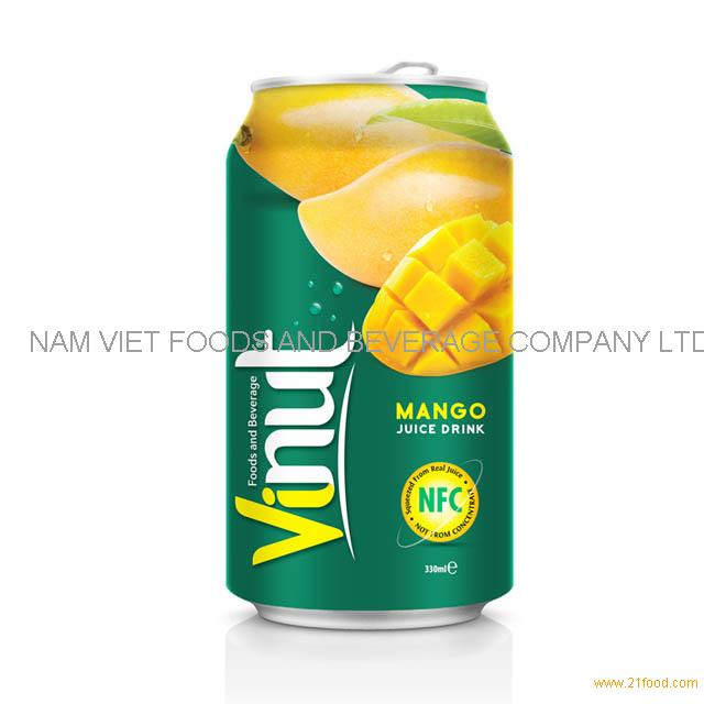 330ml Canned Fruit Juice Mango Juice Drink Supplier