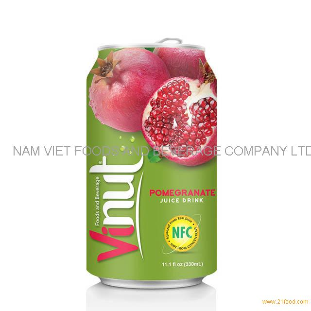 330ml Canned Fruit Juice Pomegranate Juice Drink Supplier VINUT